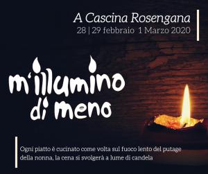 M'illumino di meno 2020 - La Vita sostenibile @ Cascina Rosengana Agriturismo