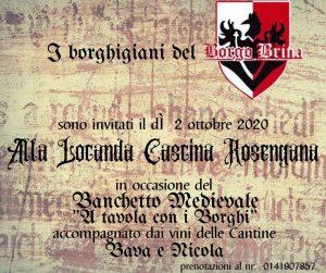 """A Cena con i Borghi"" Borgo Brina & Cascina Rosengana @ Cascina Rosengana"